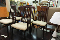 5 Mid Century Rosewood dining chairs not teak