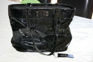 New Papillon Black Croco Purse