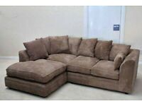 FACTORY PACKED DYLAN JUMBOCORD CORNER SOFA AVAILABLE IN 3+2 SOFA SETS