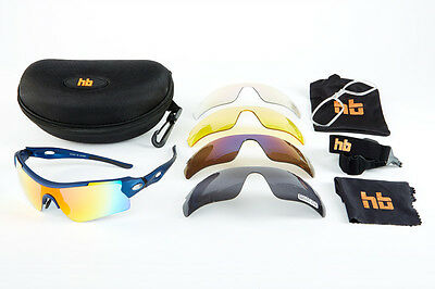 High Balance Peloton Polarized Performance Sports Sunglasses-5 lenses