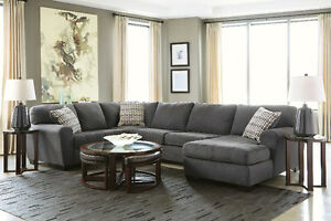3 PIECE ASHLEY FABRIC SECTIONAL !!!! LIMITED QUANTITY !!!!