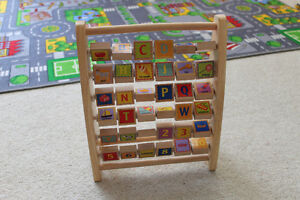 Alphabet Stand with Flipping Letters