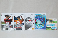 Jeux de Wii (Tiger Woods, Ping Pong, Wii Sports, Dewy's Adv...)