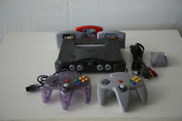 Nintendo N64with 2 controllers, rumble pack, 3 games, New Tetris