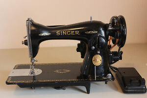 Singer Featherweight 221J Sewing Machine w Foot Pedal 40s or 50s