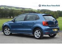2017 Volkswagen Polo Match Edition 1.0 60PS 5-speed Manual 5 Door Petrol blue Ma