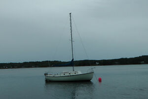 compact 23 sailboat with trailer