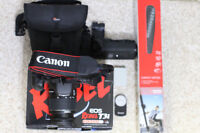 Canon T3i starter kit with 18-55 lens and lots of accessories