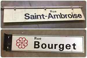 Vintage Double Sided Street Signs West Island Greater Montréal image 1