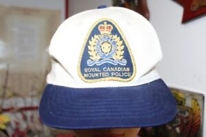 Vintage RCMP Royal Canadian Mounted Police Patch Cap Snapback