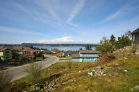 View Ocean & Mountains From Lot in Desirable SeaScape Ladysmith