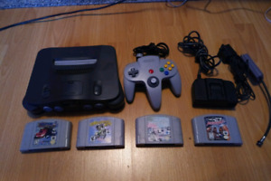 Nintendo 64 with 4 games and 1 controller