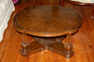 Vintage Round Oak Coffee Table