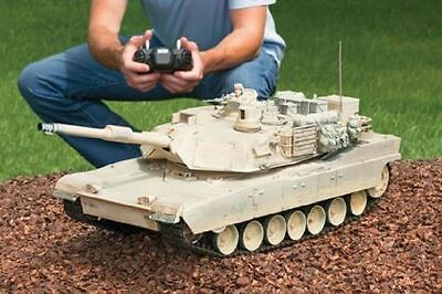 "25"" MILITARY Abrams Battle Tank Replica M1A2 Real Scale Fire Remote Control RC"""