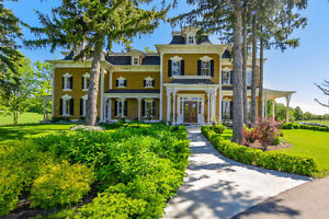 Victorian Italianate Style Home on 34 acres, North Burlington