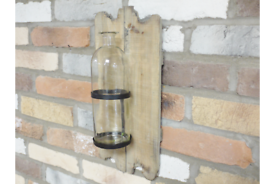 Rustic Wall Glass Vase Flower Holder
