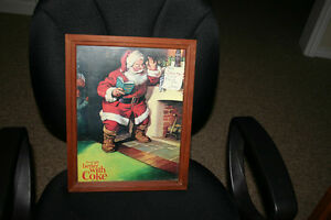 4 COKE FRAMED PICTURES( 1 XMAS)/ COCA COLA PICTURES
