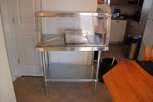 Stainless Steal Table with Sneeze gard