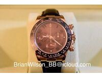 Rolex Daytona Chocolate Swiss ETA Rose Gold