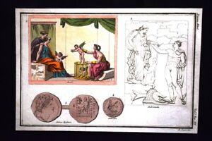 Andromeda-Antioco-Antiochia-Incisione-colorata-a-mano-del-1820-Mitologia-Pozzoli
