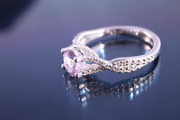 *Lady's Pink Sapphire and Diamond Engagement Ring*