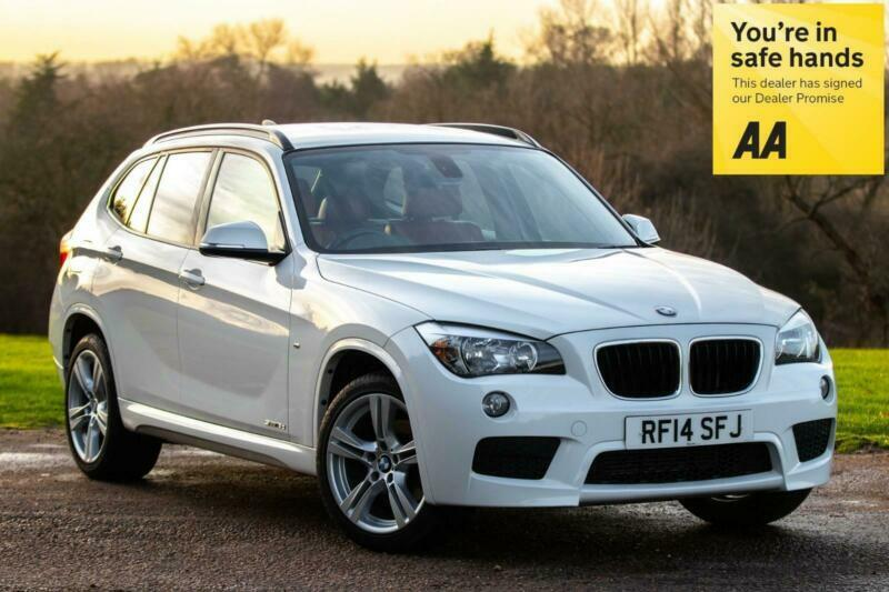 2014 Bmw X1 2 0d Auto Sdrive M Sport Only 35 000 Miles In White With Red Leather In Harlow Essex Gumtree