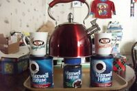 FOR SALE 1 KETTLE NOT USED ALSO 8 AW, MUGS,