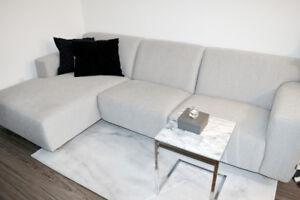 a rarely used brand sofa.