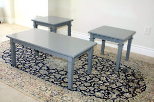 Set of coffee table and two matching side / end tables