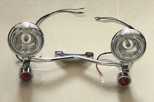 Turn Signal Spotlight Bar For Honda Shadow Spirit VT 750 1100 1300 1800 ACE Aero