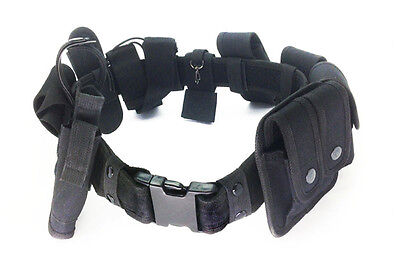 Police Security Guard Modular Enforcement Equipment Duty Belt Tactical 600 Nylon