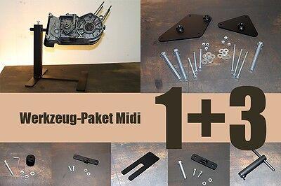 Werkzeug Paket Midi für Simson: Montagebock oder Trenn-Set + 3 Spezialwerkzeuge