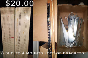 metal shelf 8 accessories Moving sale lots of items New and Used