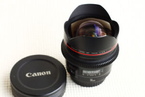 New Condition Canon EF 14mm f2.8 L USM with Cinema focus ring