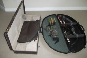 hunting bow / cross country skis / boots size 12 and poles 50.00