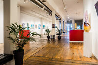 Incredible art gallery event space