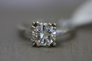 **GORGEOUS** 14K White Gold Diamond Engagement Ring (#1999)