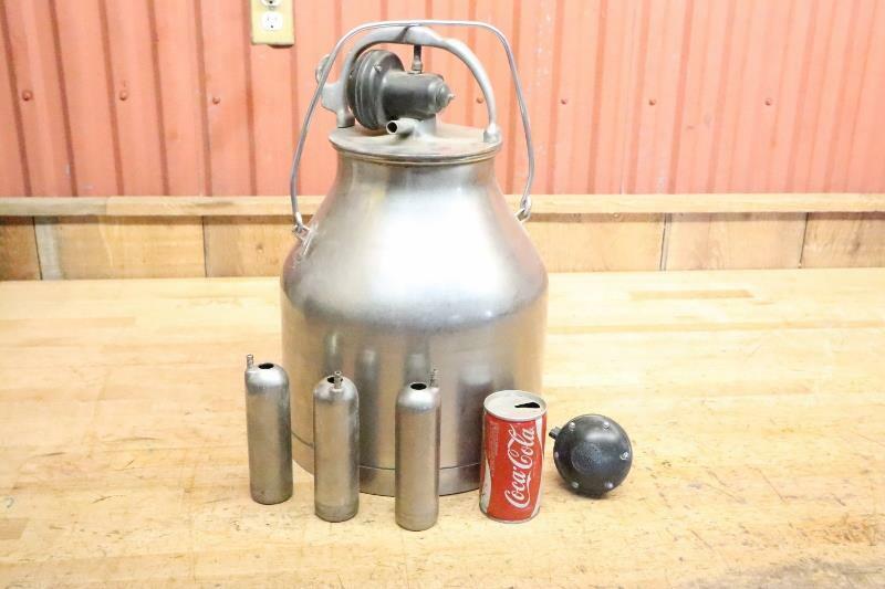 Vintage Stainless Steel Delaval Bucket Milker