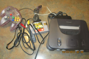 Nintendo 64 console bundle expansion pack and game