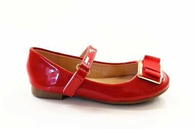 Mädchenschuhe Kinder Festliche Ballerina Pumps mit Absatz Lackoptik - Rote Schuhe Für Mädchen