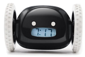 Clocky Alarm Clock - Runs/Rolls Away if you Snooze!