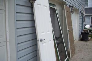 THREE SOLID WOOD DOORS TWO INTERIOR ONE FANCY SCREEN DOOR London Ontario image 4
