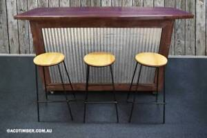 'THE OUTBACK BAR' Handmade Solid Timber Outdoor Bar With Wheels Lonsdale Morphett Vale Area Preview