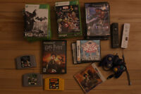 VIDEO GAMES (nintendo, playstation, xbox, old, and new)