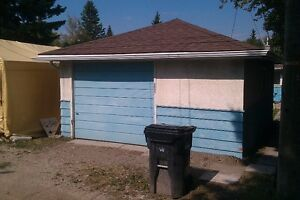 over size single garage for rent in banff trail