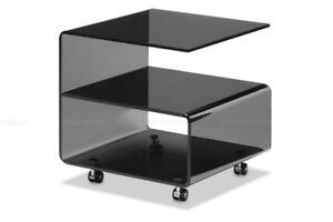 Zuo Voyage Side Table (Smoked) - Table d'appoint Voyage par Zuo