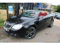 2006 (56) Volkswagen Eos 3.2 Sport T FSI DSG Automatic Black With Heated Red Lea