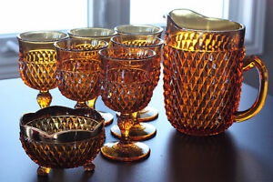 Vintage Amber Glassware Set Stratford Kitchener Area image 1