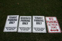 4 METAL SIGNS IDEAL FOR APPARTMENT BUILDINGS