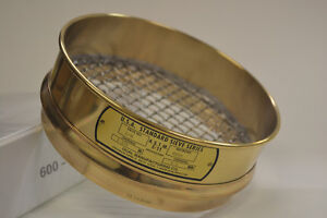 "8"" Dual Mfg Sieve Brass Frame with Stainless Steel"